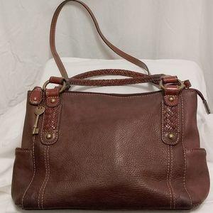 Fossil Brown Leather Crossbody/Shoulder Bag